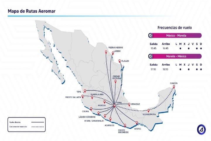 Conoce las rutas de Aeromar ¡Viaja en todas! Foto: Archivo