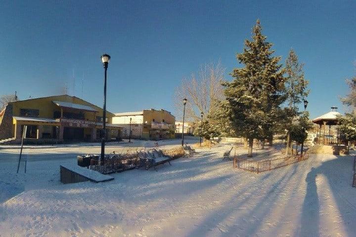 Creel bajo la nieve es hermoso. Foto: Archivo