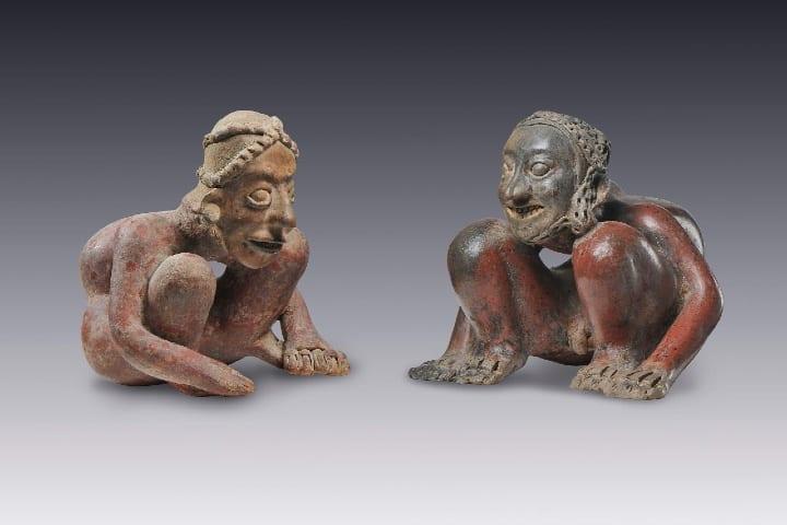 Esculturas dentro del Museo Amparo en Puebla. Foto: Archivo