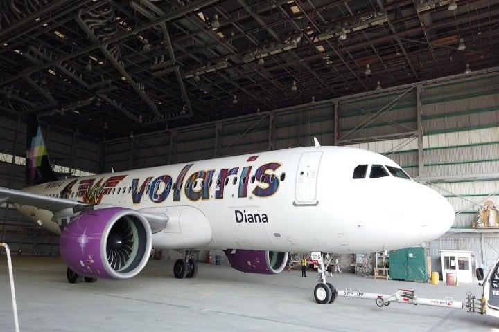 Este es el avión de Volaris y la Mujer Maravilla. Foto: Archivo