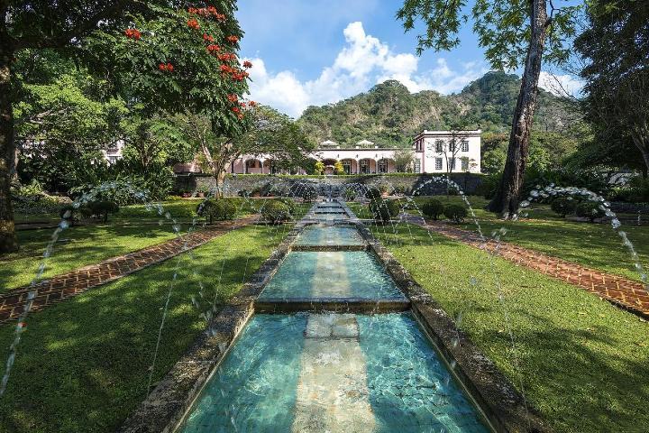 Jardines de la hacienda. Foto: Booking