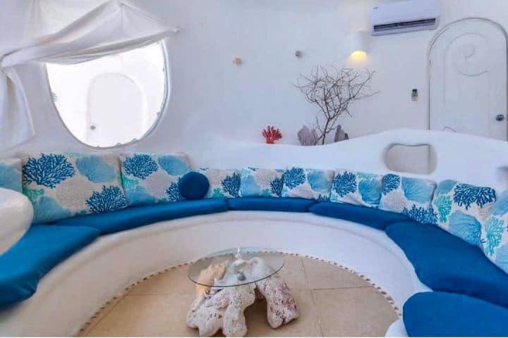 Hasta la estancia de la Casa Caracol en Isla Mujeres tiene un estilo único. Foto: sweptawaytravel