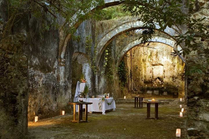 Iglesia de la Hacienda Uayamón de Campeche. Foto: Ciudad y Poder