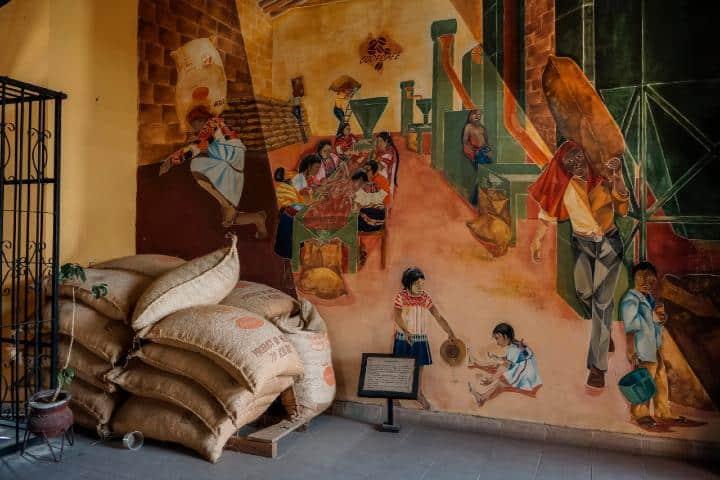 Interior del museo del café Chiapas. Foto: Portavoz