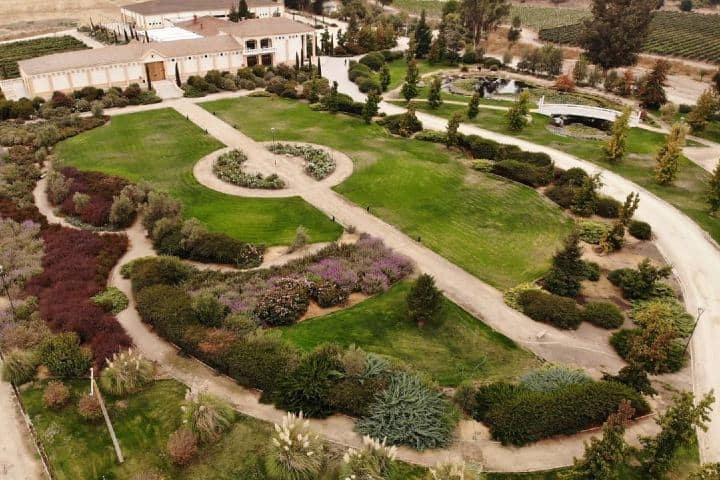 Jardines en Valle de Casablanca. Imagen: estancia_el_cuadro