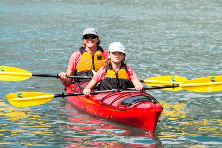 Aquí puedes practicar Kayak. Foto: Geiranger Fjordservice AS