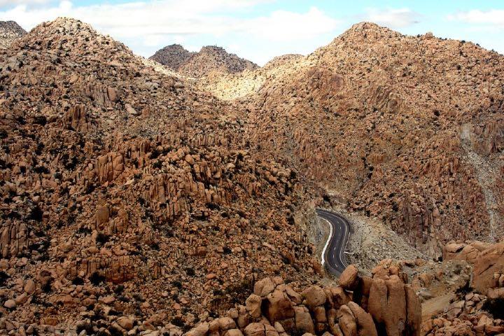 La carretera en La Rumorosa en Baja California es una ruta indescriptible. Foto: Archivo