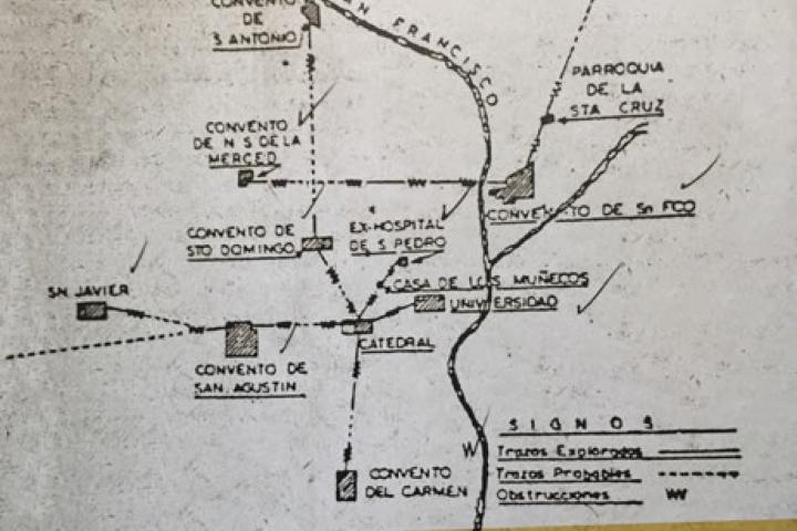 Mapa de los túneles de Puebla. Foto: Obras Expansión