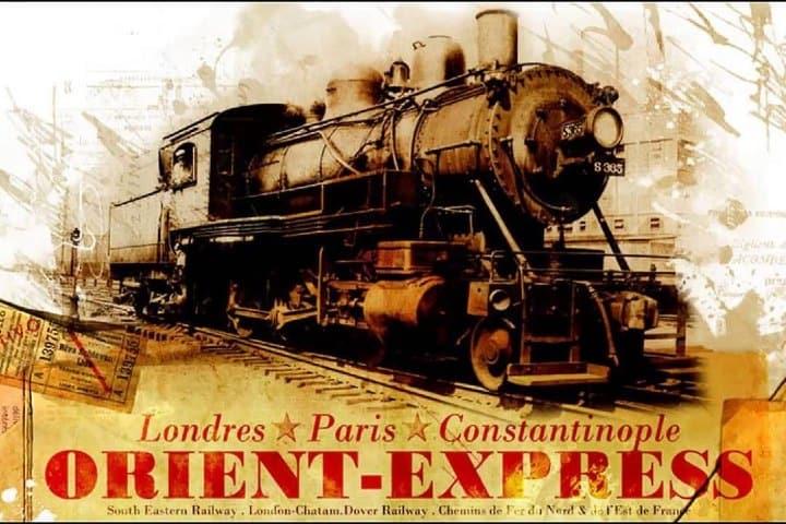 Con este cartel se anunciaba al Orient Express. Foto: Pinterest