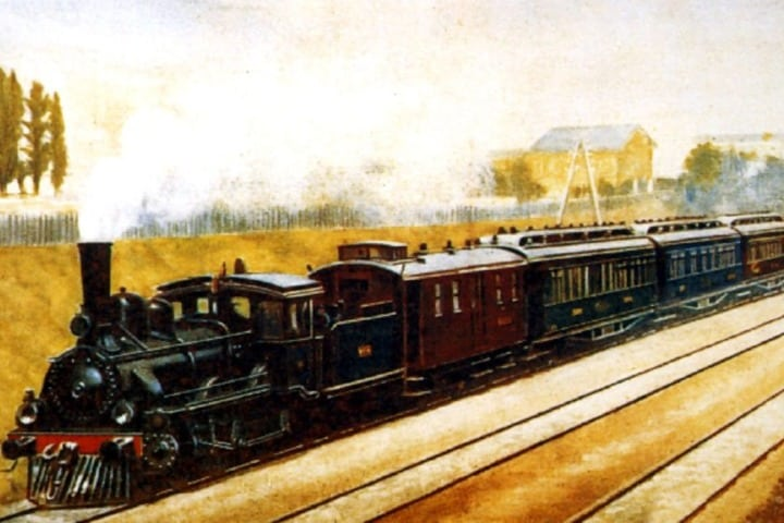Pintura del Orient Express. Foto: Tailor Made Rail