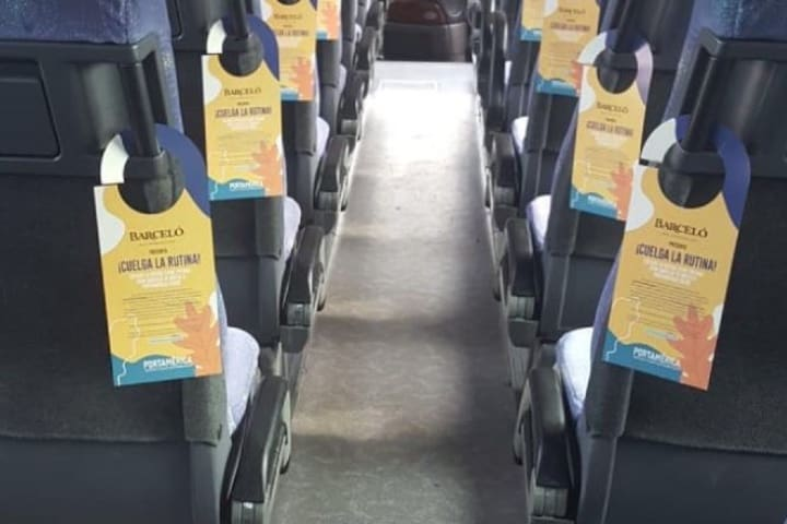 Para reducir la emisión de contaminantes están los autobuses gratuitos. Foto: PortAmérica