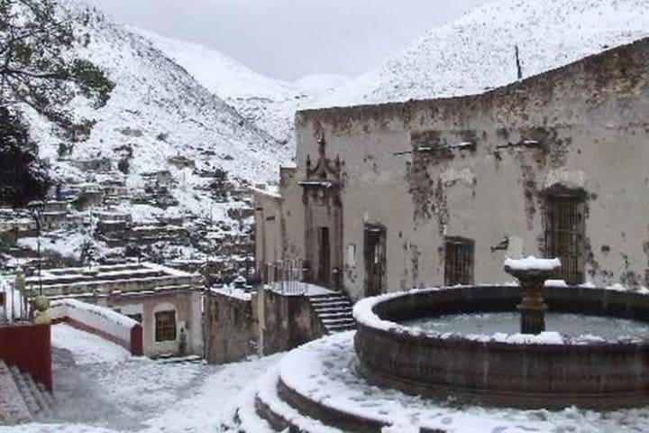 Real de Catorce es uno de los destinos en México dónde disfrutarás de la nieve. Foto: Archivo