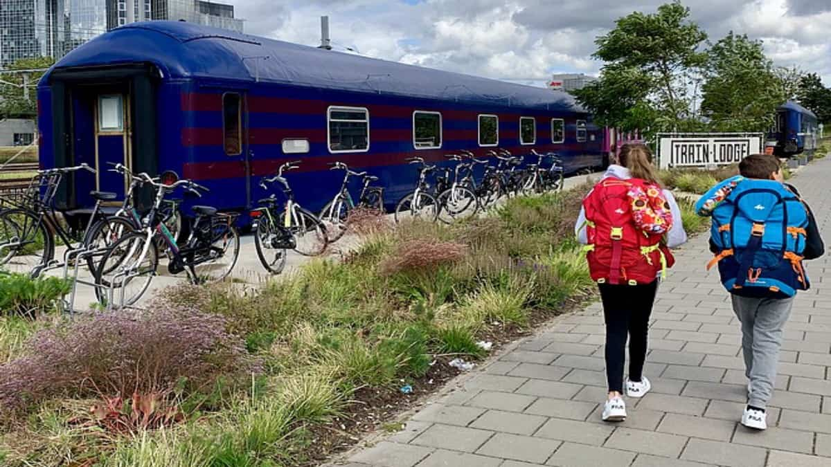 Train Lodge, hostal en Ámsterdam. Foto: Archivo