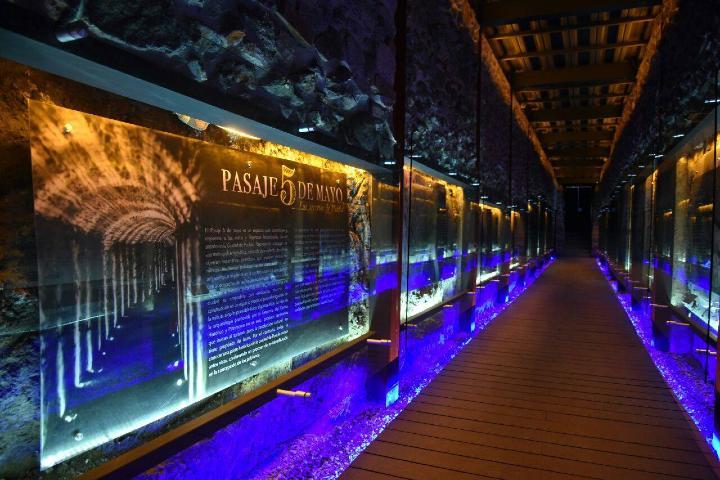 Tunel Pasaje Historico 5 de Mayo. Foto: Elementa