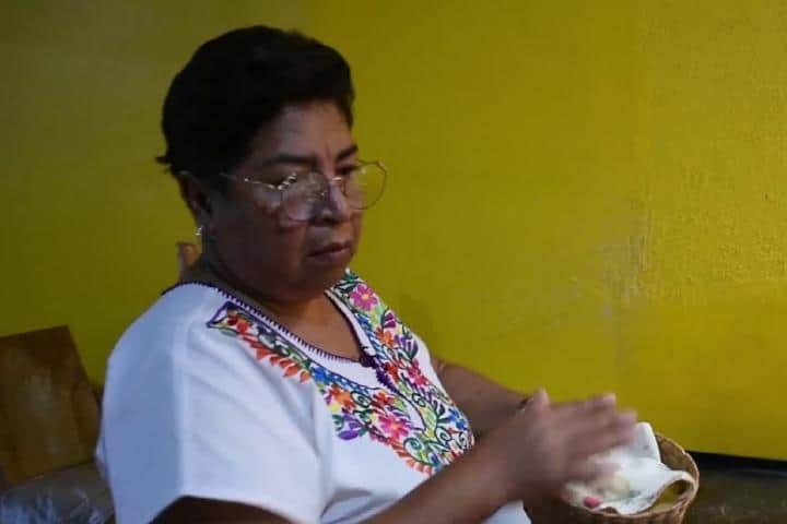 Vicenta Coreño Castro, una de las cocineras tradicionales de San Luis Potosí. Foto: Youtube