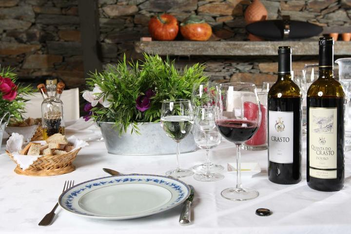 Cena con vinos de Quinta do Castro. Foto: Portugal By Wine