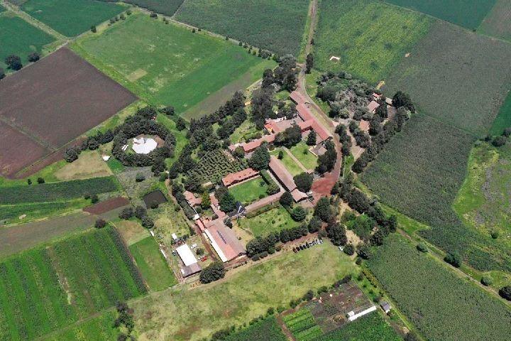 Vista aérea de toda la Hacienda y alrededores. Imagen: haciendasanandres