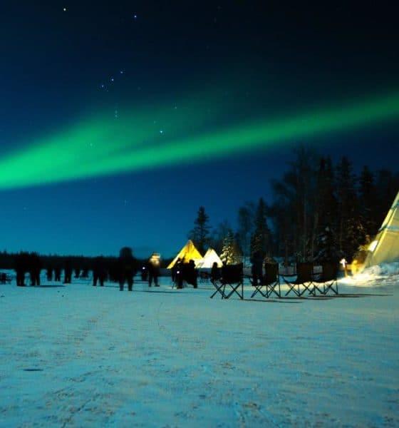 Portada. Auroras boreales en Canadá. Yellowknife. Imagen: Cindy Shi