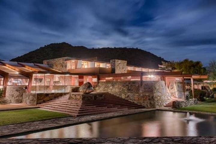 casa-estudio de Frank Lloyd Wright, considerada una maravilla de Arizona por la UNESCO. Foto: Elle Decor