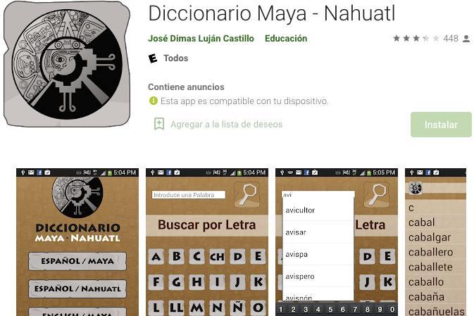 Diccionarios y utilidades – Imagen Playstore