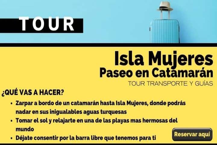 Tour Isla Mujeres, Paseo en catamarán
