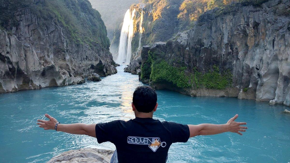 Cascada Tamul en SLP Foto El Souvenir