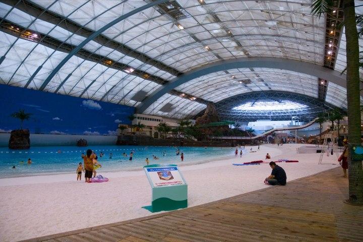 El Seagaia Ocean Dome. Pocas veces se ve tan vacio. Foto_idata