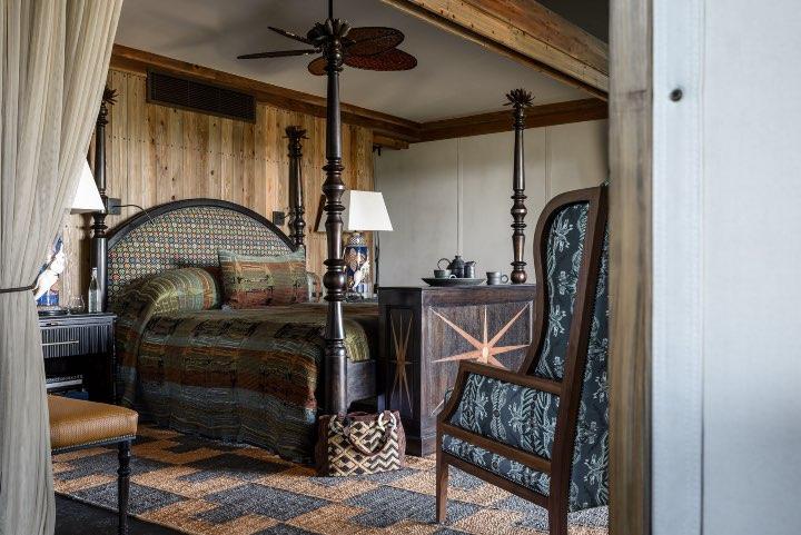 El diseño de las habitaciones de Xigera Safari Lodge es espectacular. Foto: Archivo