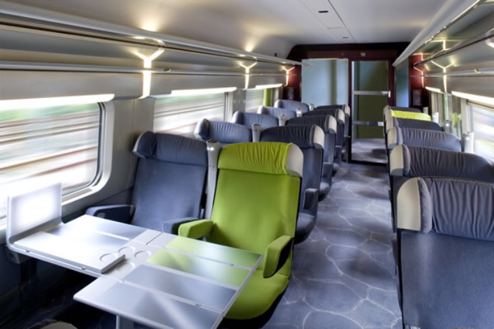 El interior del TGV te dará una gran experiencia y comodidad. Foto: Trenes de Europa