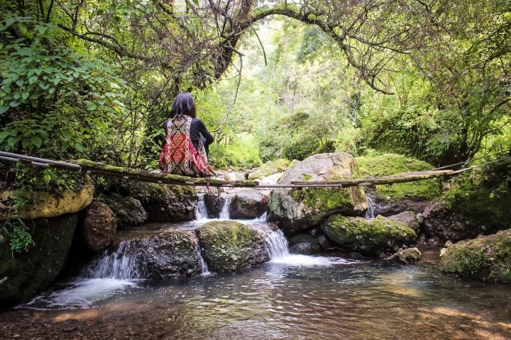 Las tierras de Quetzalcoatl en el centro ecoturístico. Foto: Walking México