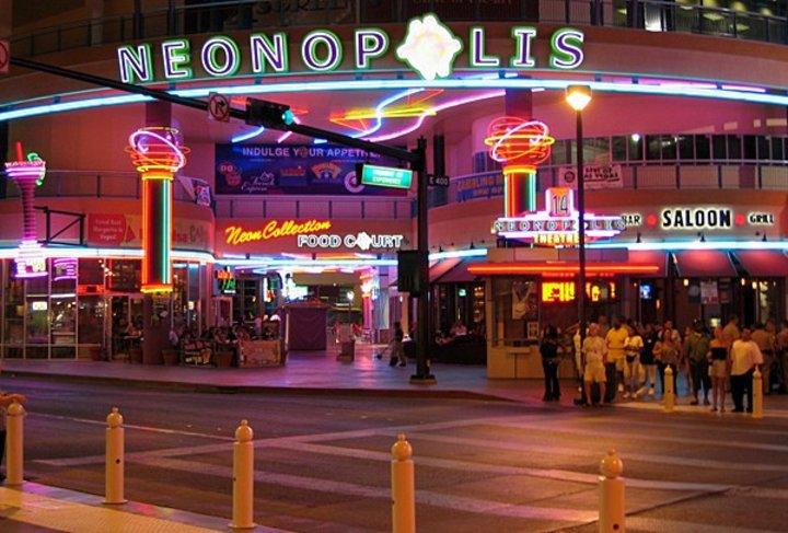 Neonopolis, Las Vegas. Foto: Nonopolis, Las Vegas.