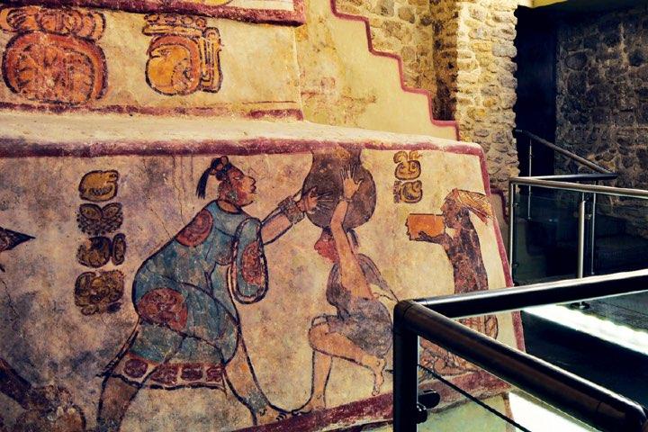Pinturas de Calakmul. Foto: Arqueología Mexicana