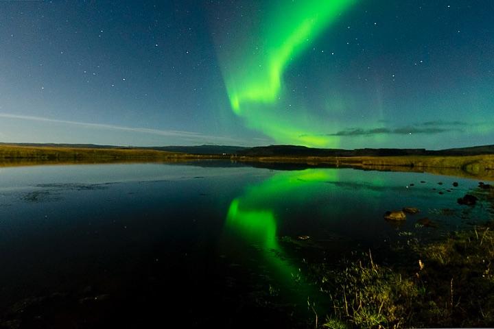 aurora boreal. Foto: Mariano Sanz