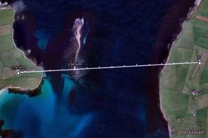Esta es la ruta del vuelo más corto del mundo. Foto: RPP