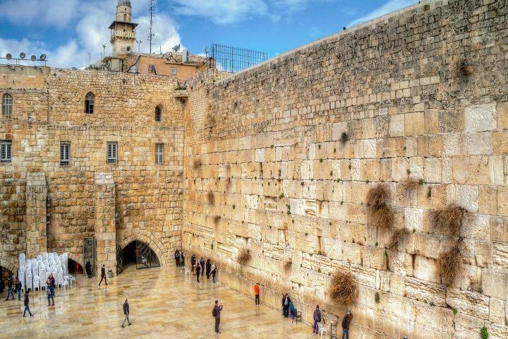 El Muro de los Lamentos en Israel. Foto: Pinterest