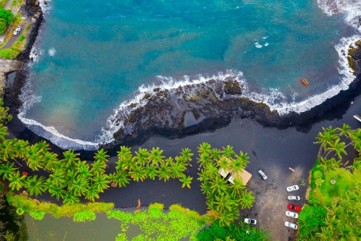 Punaluu Black Sand Beach es una playa pequeña pero disfrutable. Foto: That Adventure Life