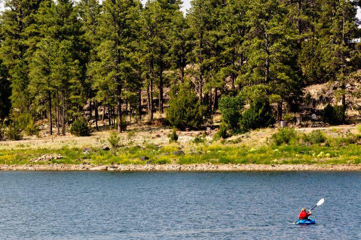 Los niños podrán disfrutar del lago Fool Hollow, uno de los campgrounds de Arizona. Foto: Arizona State Parks