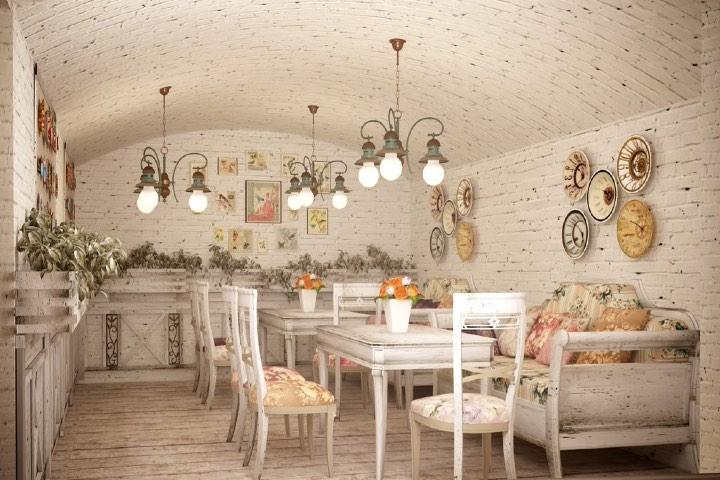 Restaurantes estilo shabby chic en Ciudad de México. Foto: Decoración Sueca