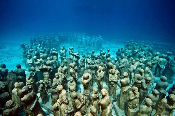 Uno de los museos del Caribe Mexicano es el Museo Subacuático de Arte ¡Es impresionante! Foto Foto: Prensa Gaudelli