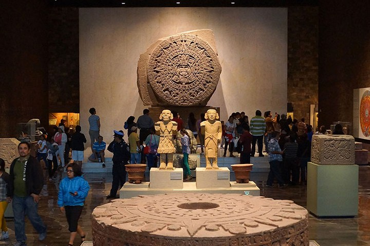 Calendario Azteca en Sala Mexica. Foto: INAH
