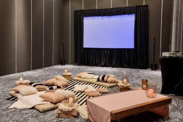 Eventos en el hotel como Cine. Foto: HGPSJ