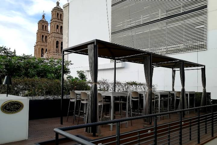 Terraza Hotel Central Boutique Chihuahua. Foto: El Souvenir
