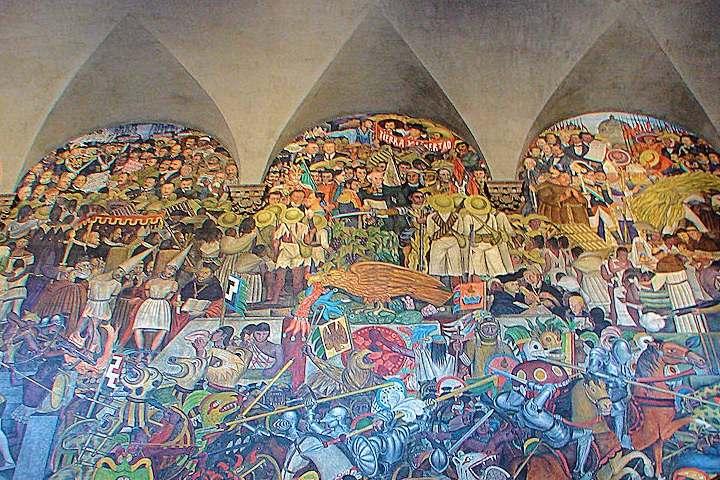 Murales históricos de la CDMX. Foto: Jose Antonio Bru Blog