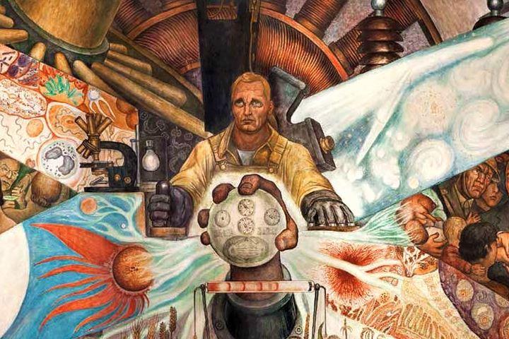 Mural El Hombre controlador del Universo. Foto: Merkdearte