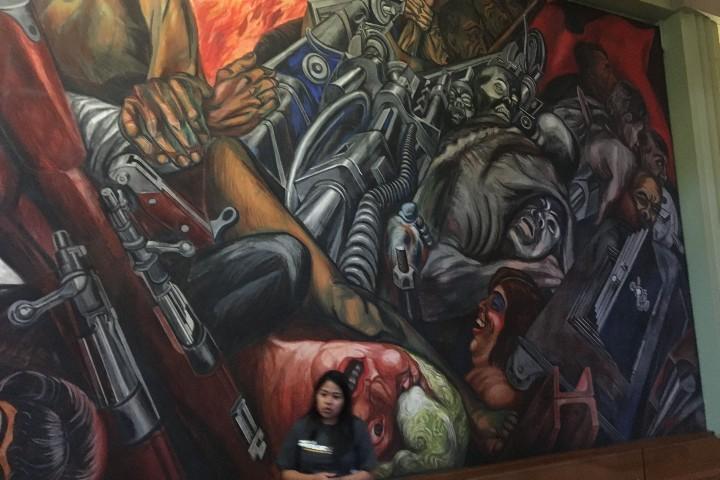 Mural Khatarsis en Palacio de Bellas Artes. Foto: Pinterest