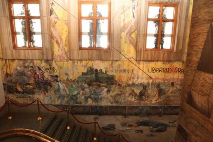 Mural de Rafael Cauduro en la Suprema Corte de Justicia. Foto: Sitio Web