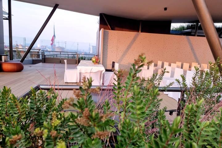 Roof Garden Ceremonias de Boda. Foto: Hotel Galeria Plaza San Jerónimo