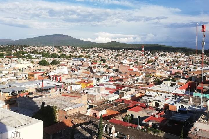 Salvatierra desde las alturas - Foto Luis Juárez J.
