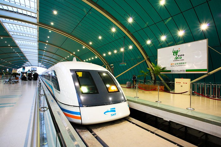 El tren Shanghai Maglev es uno de los trenes más veloces del mundo. Foto: China Discovery