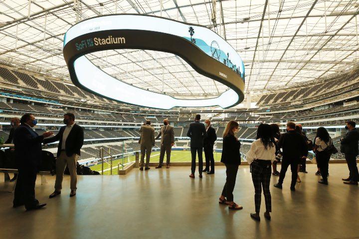 Visita los sitios más exclusivos del Estadio SoFi durante los recorridos. Foto: Los Ángeles Times